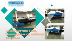 Laser cut flag and banner machine | Construction, mining and facility services | Tabdevi.com