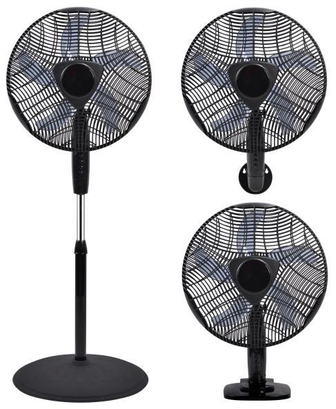 16-inch 3-in-1 oscillating fan (stand, desk and wall) | Household appliances | Cold and heat | Fans | Img 1 | Tabdevi.com
