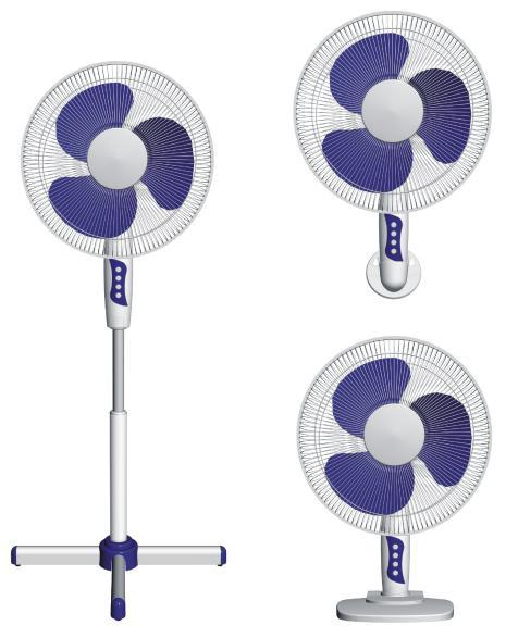 16-inch pedestal fan 3 in 1 CRYSF-16BI switch box | Household appliances | Cold and heat | Fans | Img 1 | Tabdevi.com