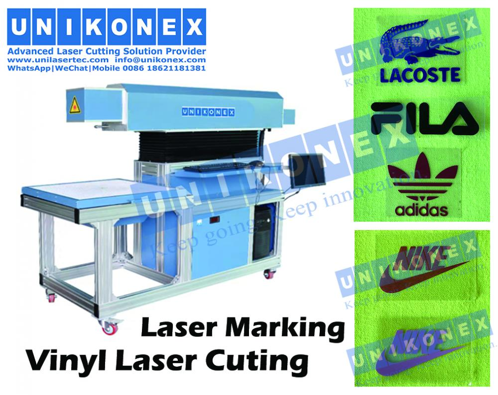Vinyl laser marking, laser cutting vinyl by Unikonex machine | Machinery and equipment | Clothing and textile industry | Img 1 | Tabdevi.com