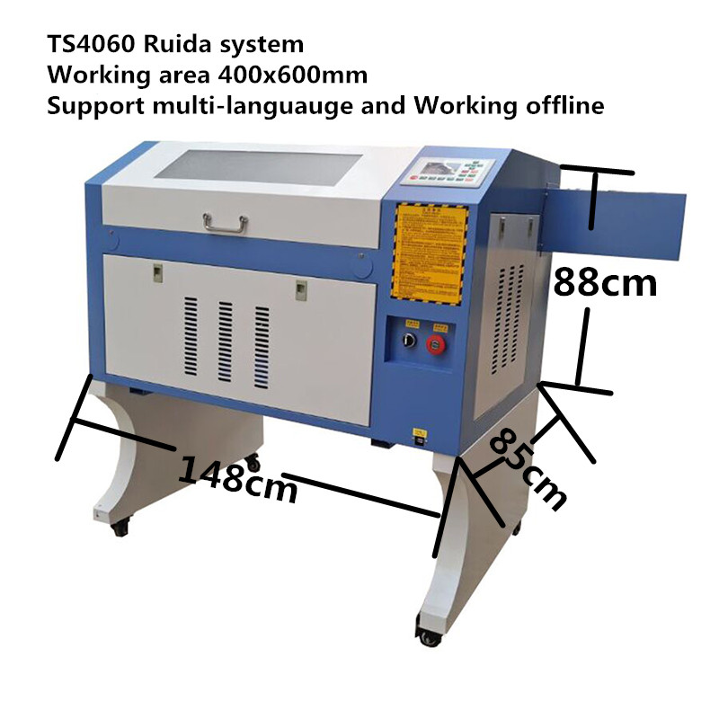 JNHXSK 80W CNC Ruida laser engraving and cutting machine TS4060 | Machinery and equipment | Metallurgical industry | Cutting machinery | Img 1 | Tabdevi.com