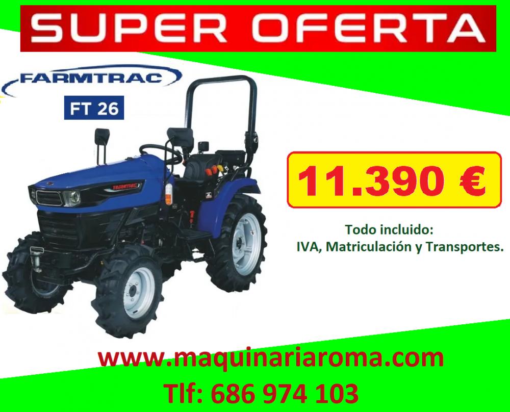 Tractor Farmtrac FT 26 | Agricultura, forestal, ganadería y pesca | maquinaria | Img 1 | Tabdevi.com