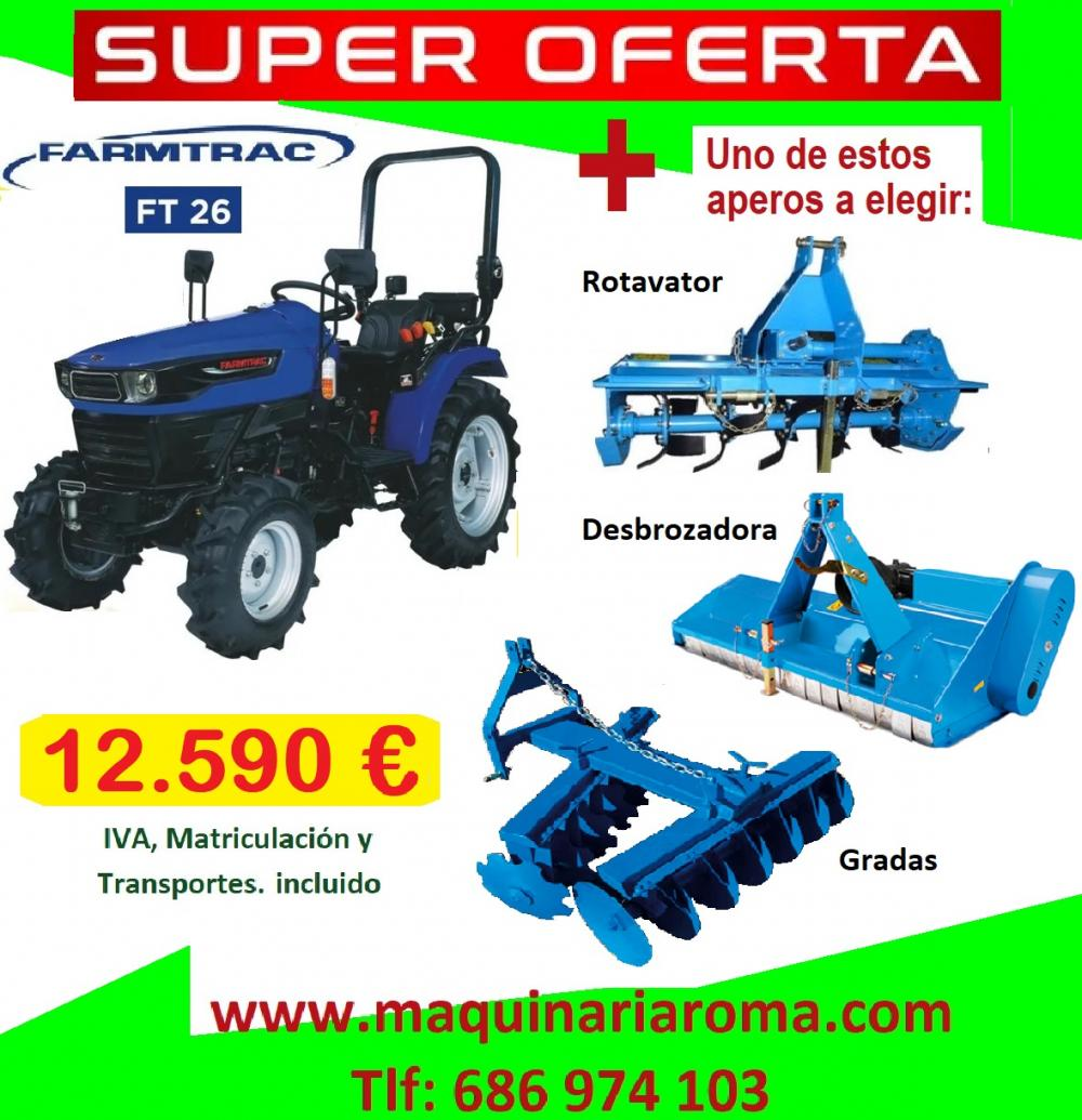 Farmtrac FT 26 tractor with implement | Agriculture, forestry, livestock and fishing | maquinaria | Img 1 | Tabdevi.com